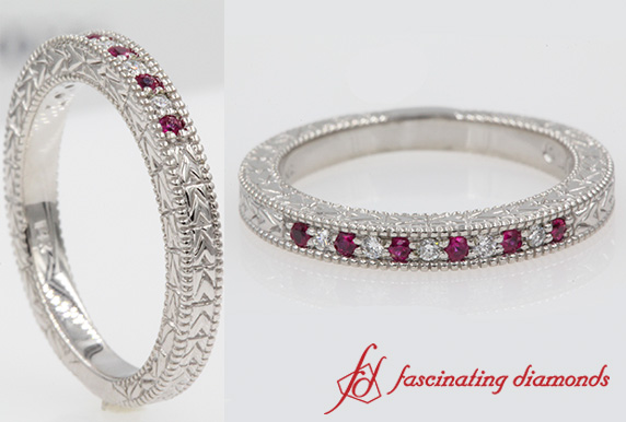 Arrow Design Pave Diamond Band