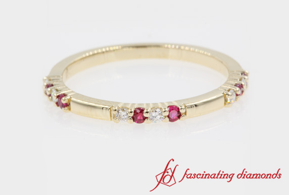 Ruby Stackable Delicate Band