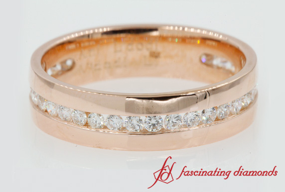 Mens Round Diamond Band