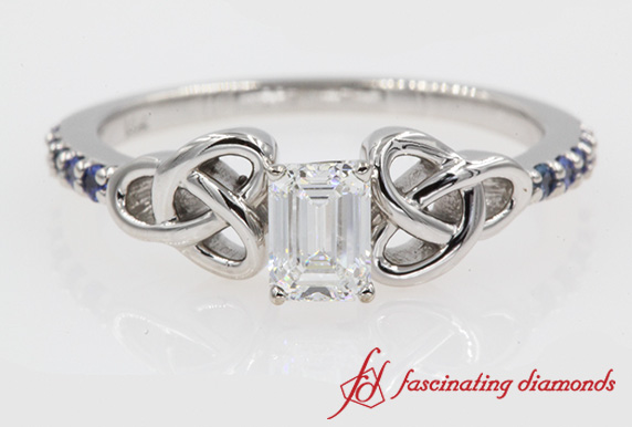 Petite Pave Diamond Celtic Ring