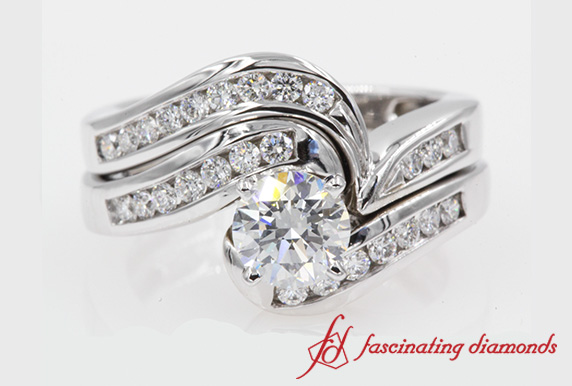 Round Cut Diamond Twisted Bridal Set