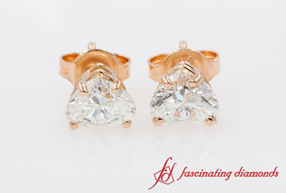 Heart Diamond Stud Earring 1 Ct.