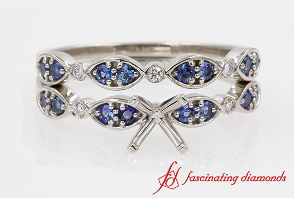 Sapphire Wedding Ring Setting