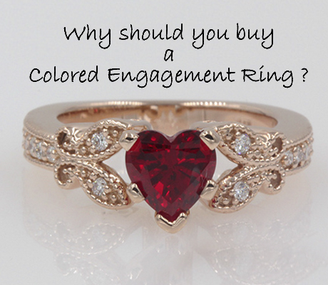 Why Should You Buy Your Love A Colored Engagement Ring?