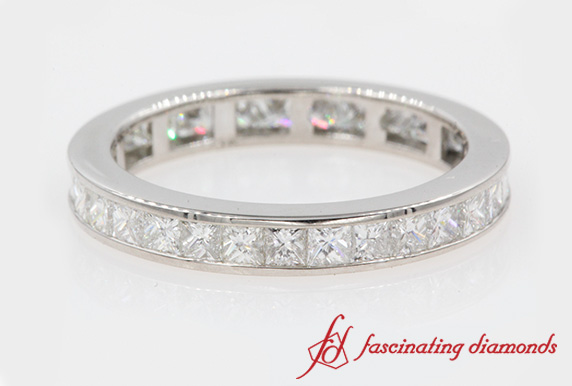 2 Carat Princess Diamond Band
