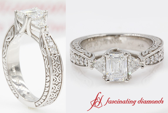 Antique Trillion Engagement Ring