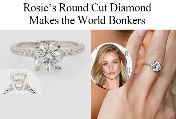 Rosie's Round Cut Diamond Ring Makes The World Bonkers