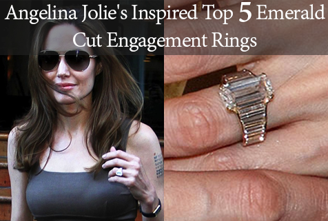 angelina jolie's inspired top 5 emerald cut engagement rings.