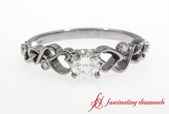 Beautiful Filigree Engagement Ring
