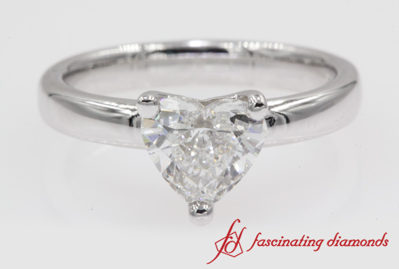 Classic Heart Diamond Ring