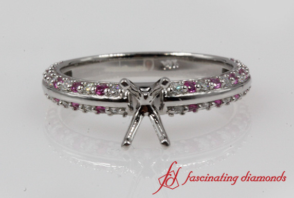 Knife Edge Diamond Ring Setting