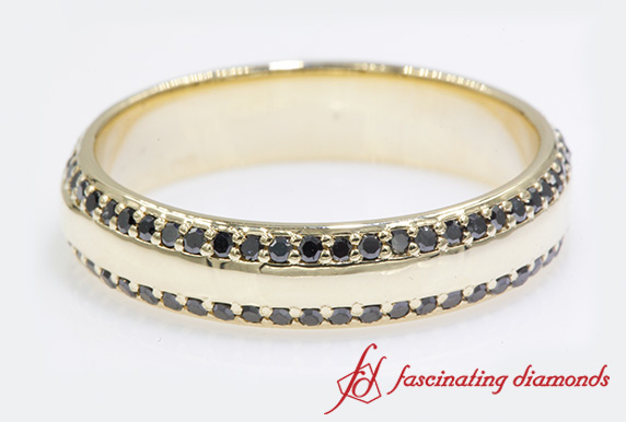 Two Row Black Diamond Eternity Band