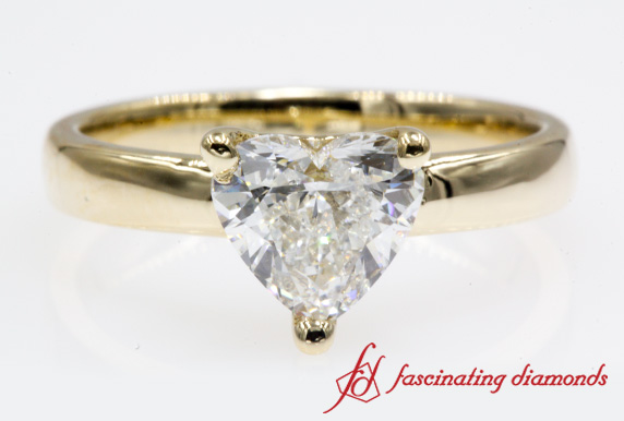 1 Ct. Heart Diamond Solitaire Engagement Ring In Gold