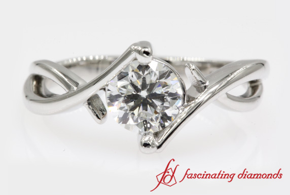 Beautiful Platinum Solitaire Ring