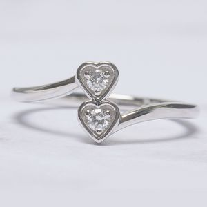 2 Stone Promise Ring Gift