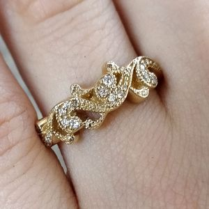 Filigree Diamond Band Gift For Her
