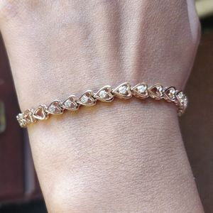 Heart Linked Diamond Bracelet Gift