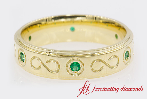 Infinity Design Emerald Band For Men