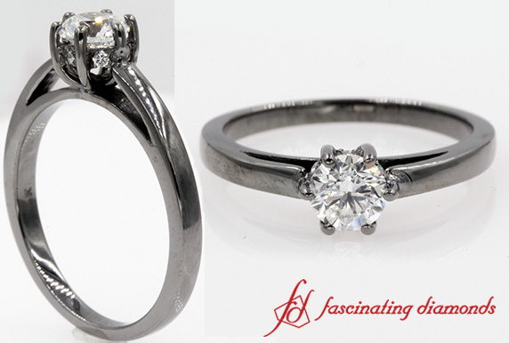 6 Prong Studded Diamond Ring