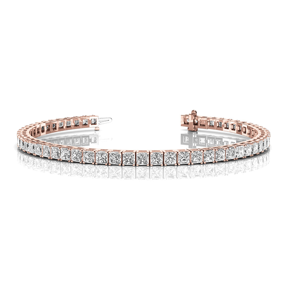 5 Ct. Princess Cut Tennis Bracelet