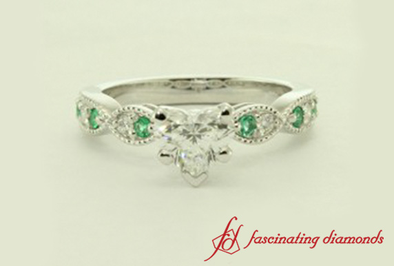 Art Deco Heart Diamond Ring