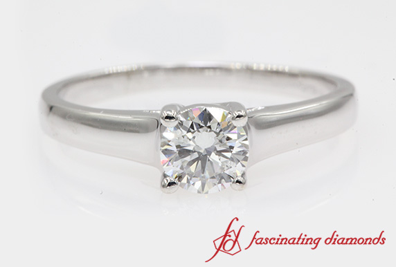 Cathedral Solitaire Wedding Ring