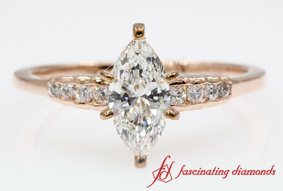 Marquise Diamond Graduated Ring