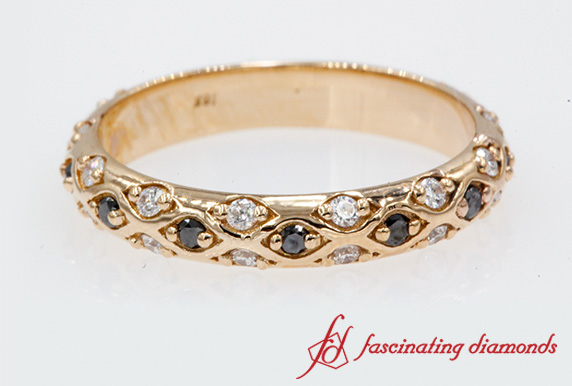 Cross Diamond Womens Band