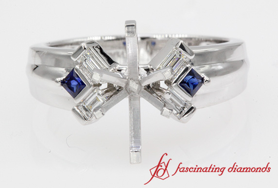 Sapphire & Baguette Ring Setting