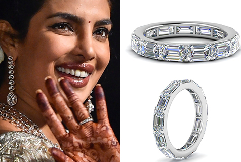 Priyanka Chopra's Platinum Wedding Rings