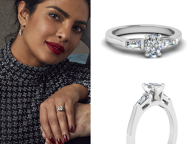 Priyanka Chopra S Platinum Wedding Rings Fascinating Diamonds