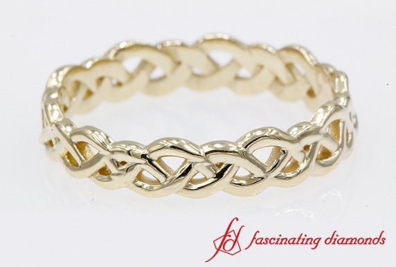 Womens Braided Eternity Band