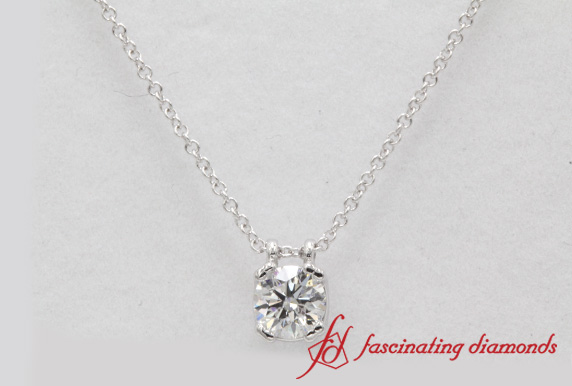 0.50 Carat Single Diamond Pendant
