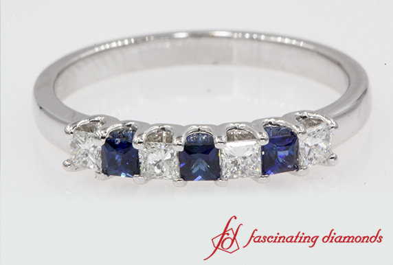 Princess Cut Anniversary Band