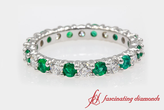 Emerald Eternity Wedding Band