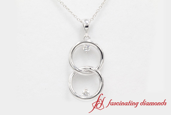Fancy Diamond Pendant In White Gold