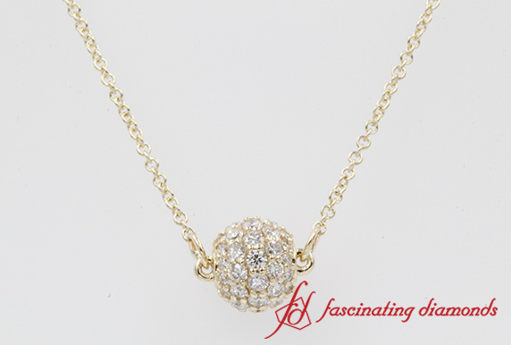 0.50 Ct. Pave Diamond Sphere Pendant