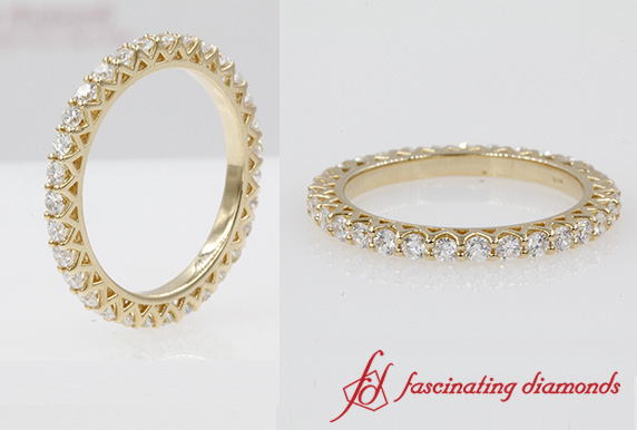 Yellow Gold Eternity Wedding Band