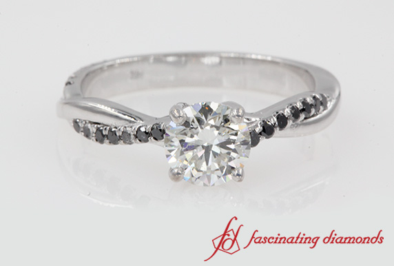 1 Ct. Twisted Vine Diamond Ring