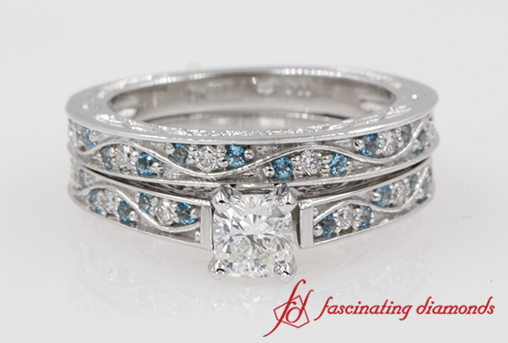 1.18 Ct. Antique Wedding Ring Set