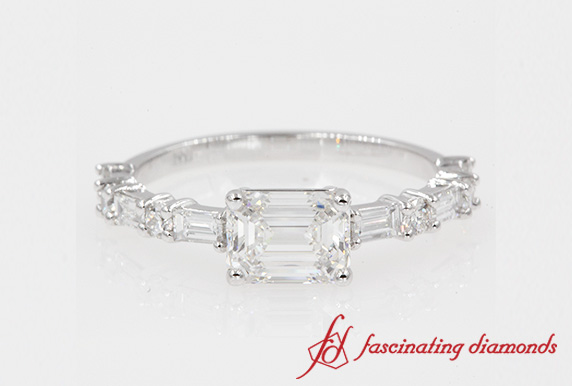 1.23 Ct. East West Diamond Ring