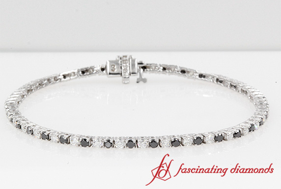 2 Ct. Black Diamond Tennis Bracelet