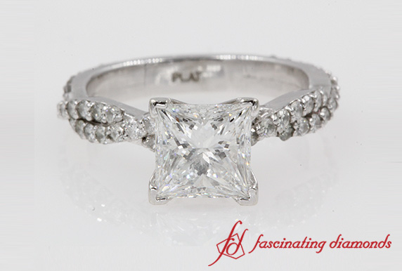 2 Carat Diamond Twisted Vine Engagement Ring In 950 Platinum