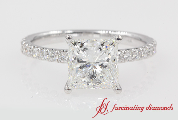 2.30 Ct. U Prong Engagement Ring
