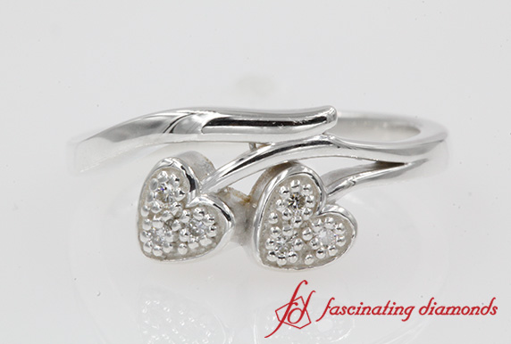 Beautiful Promise Diamond Silver Ring