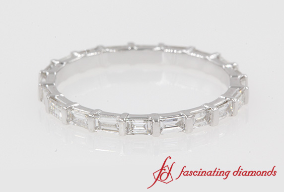 Half Carat Baguette Bar Eternity Band