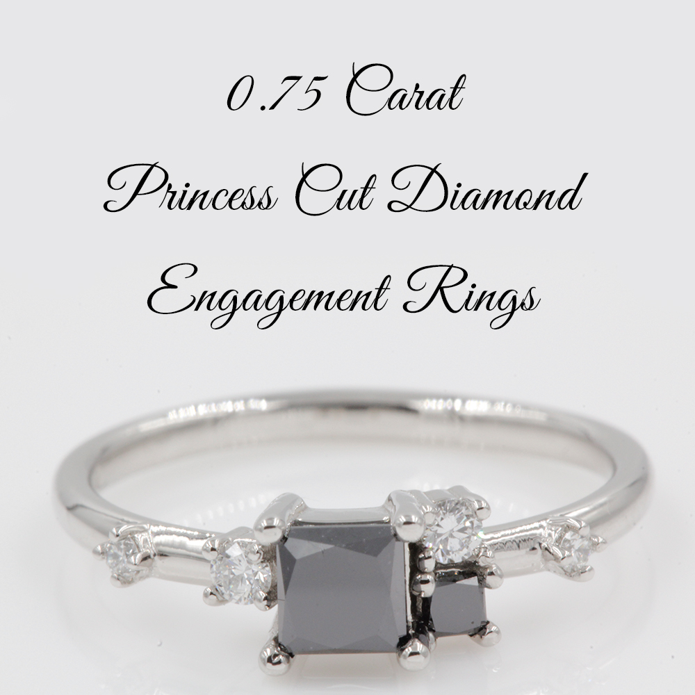 0.75 Carat Princess Cut Diamond Engagement Rings