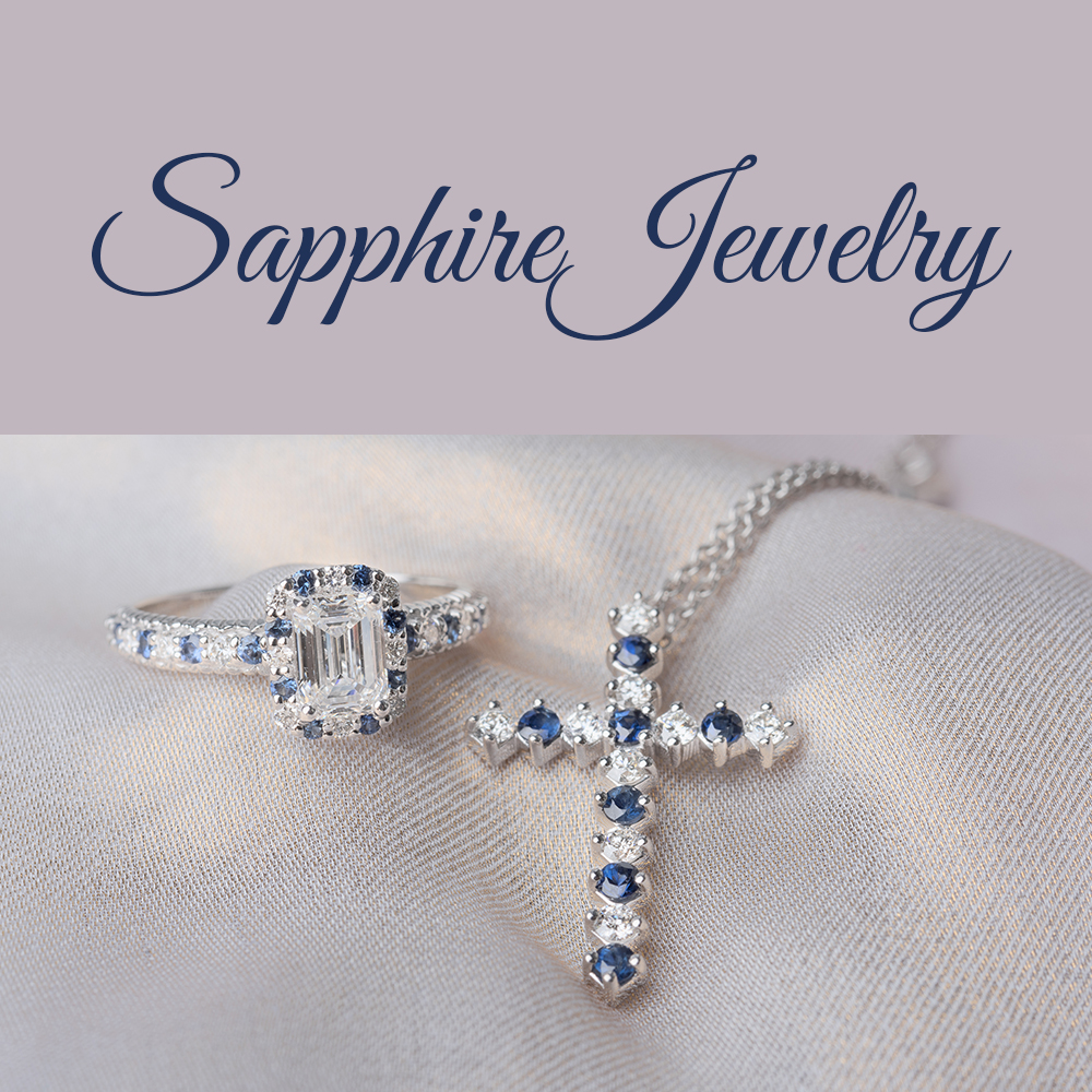 Sapphire With Diamond Jewelry