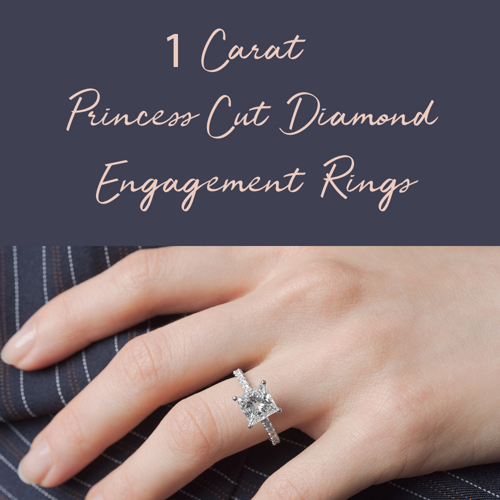 1 Carat Princess Cut Diamond Engagement Rings Fascinating Diamonds