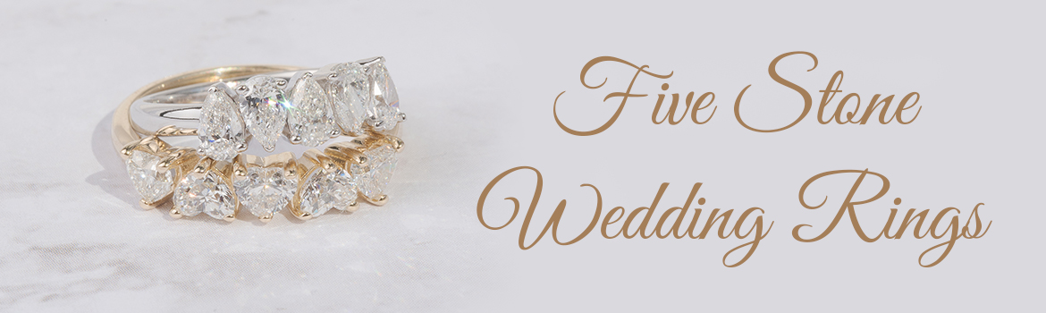 Five Stone Wedding Rings